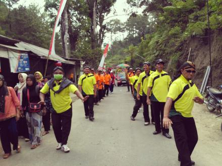 Kegiatan HUT RI Mengikuti Karnaval di Kecamatan